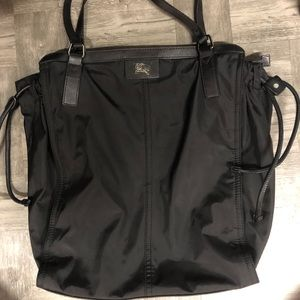 Authentic Burberry buckleigh Black nylon tote